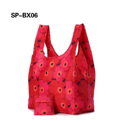 Foldable supermarket shopping bag